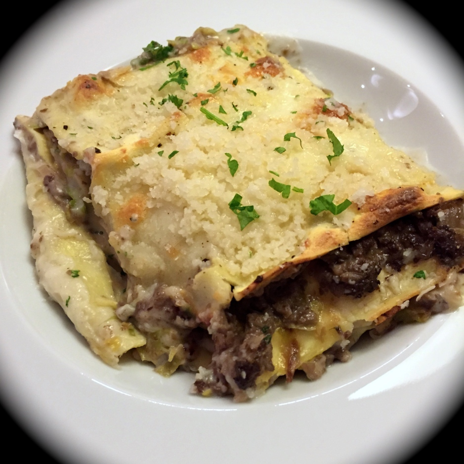 brussel sprouts mushroom lasagna
