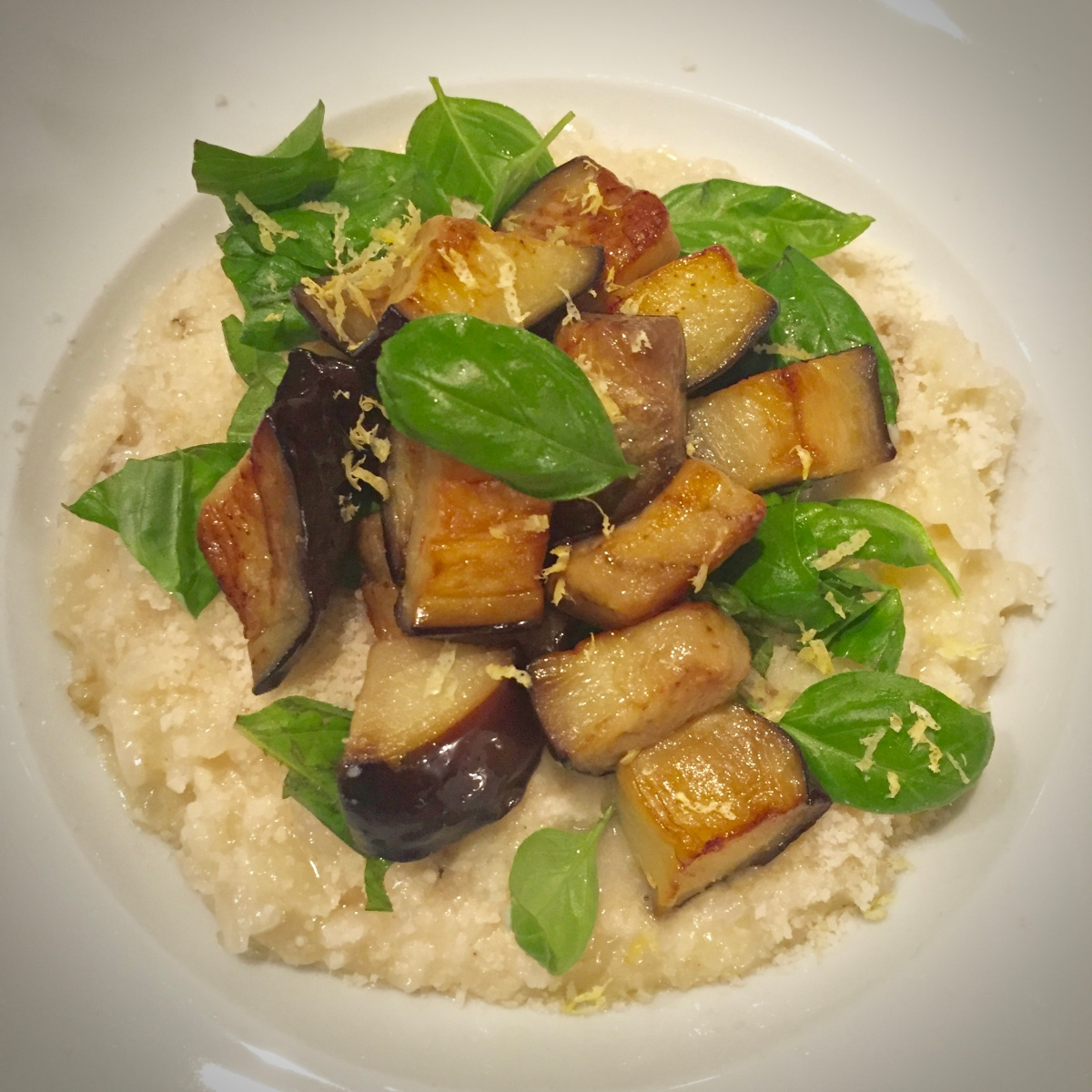 Lemon and Aubergine Risotto by Ottolenghi
