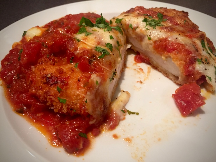 chicken parmesan plated