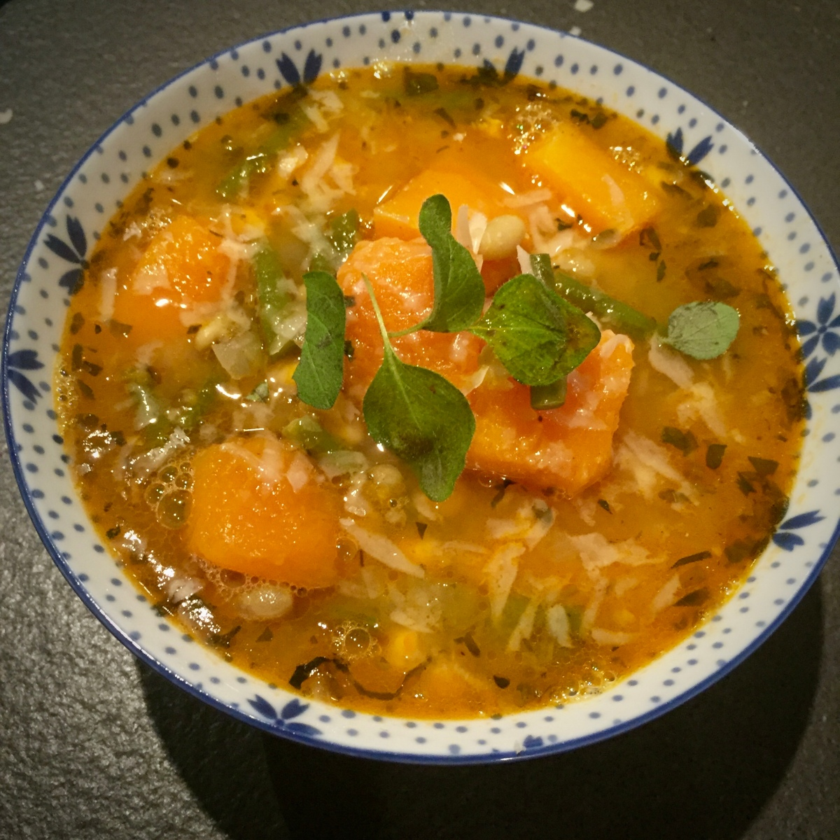 Porotos Granados Soup (Chilean Squash and Bean Soup)