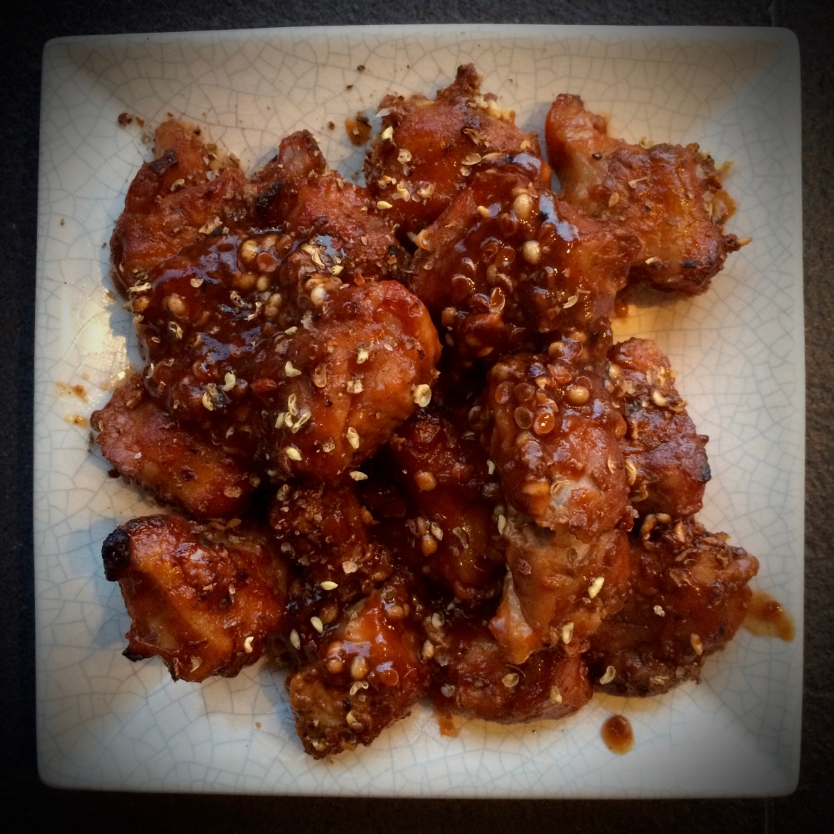 Szechuan Pork Belly Bites with BBQ Glaze