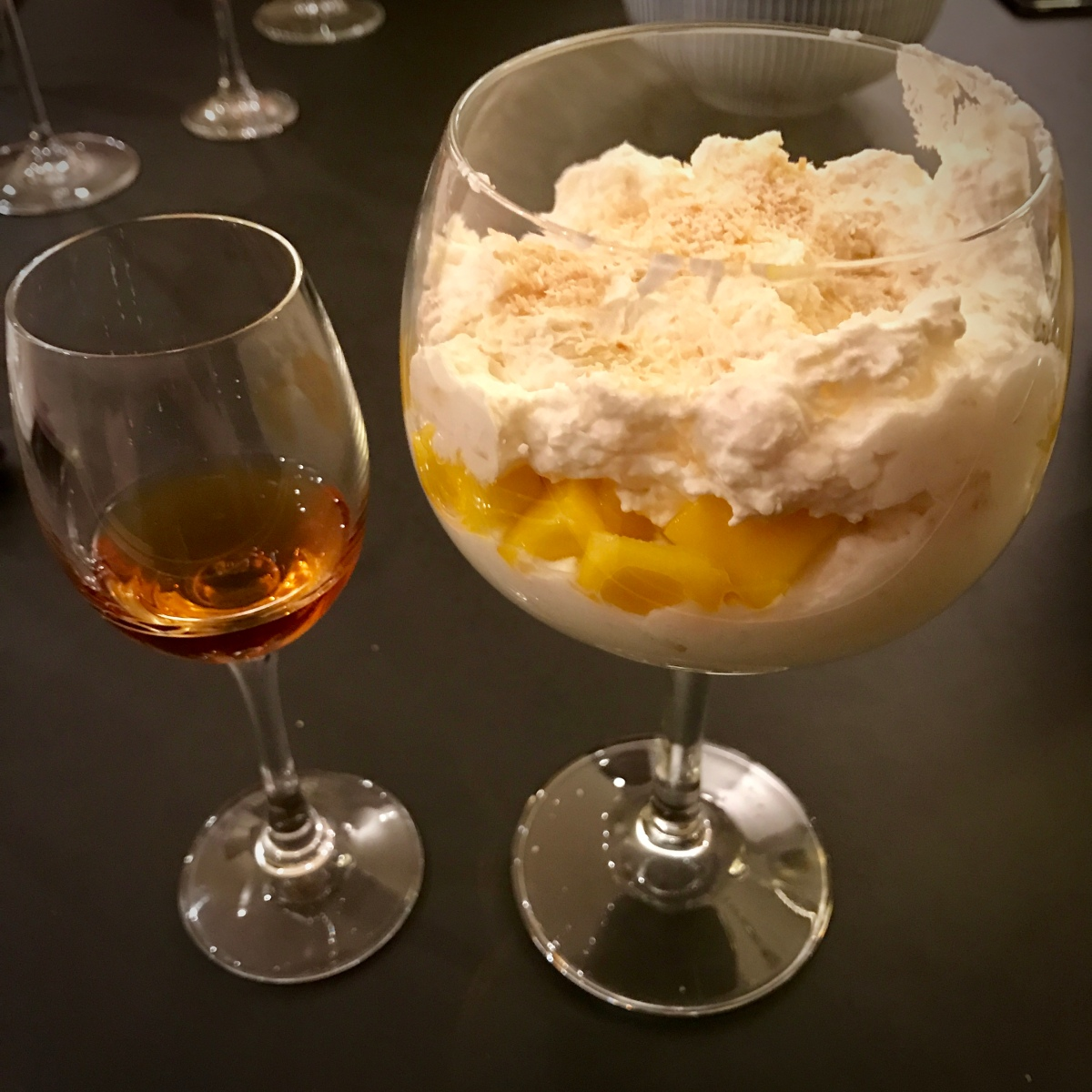 Pineapple, Mango and Coconut Fool