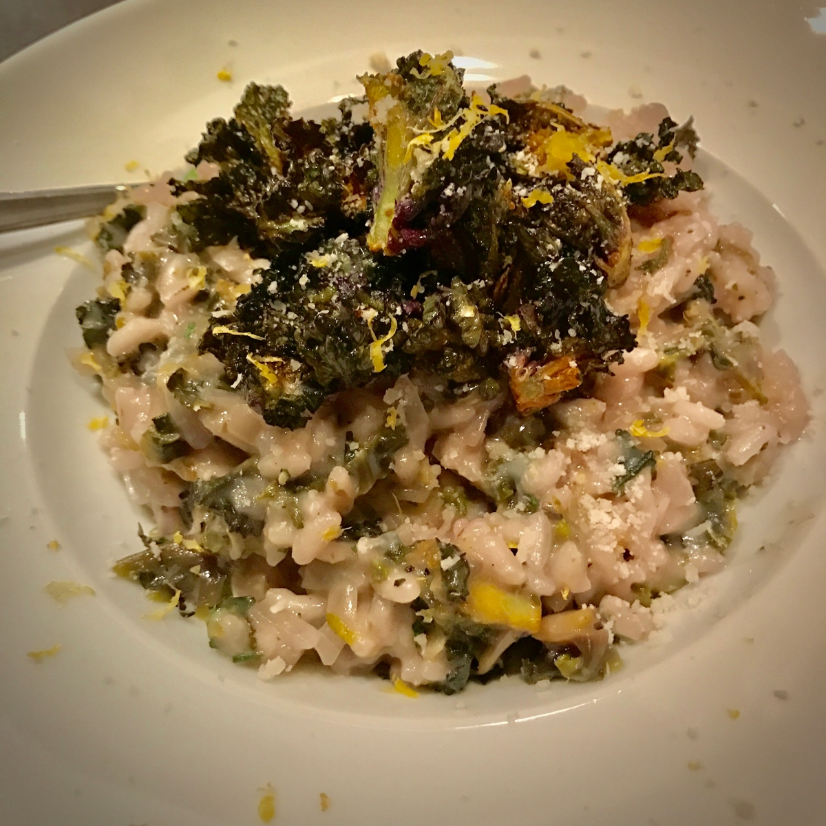 Brussels Sprouts Risotto by Ottolenghi
