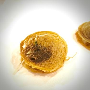 cured beef – crispy potato – pickled cucumber