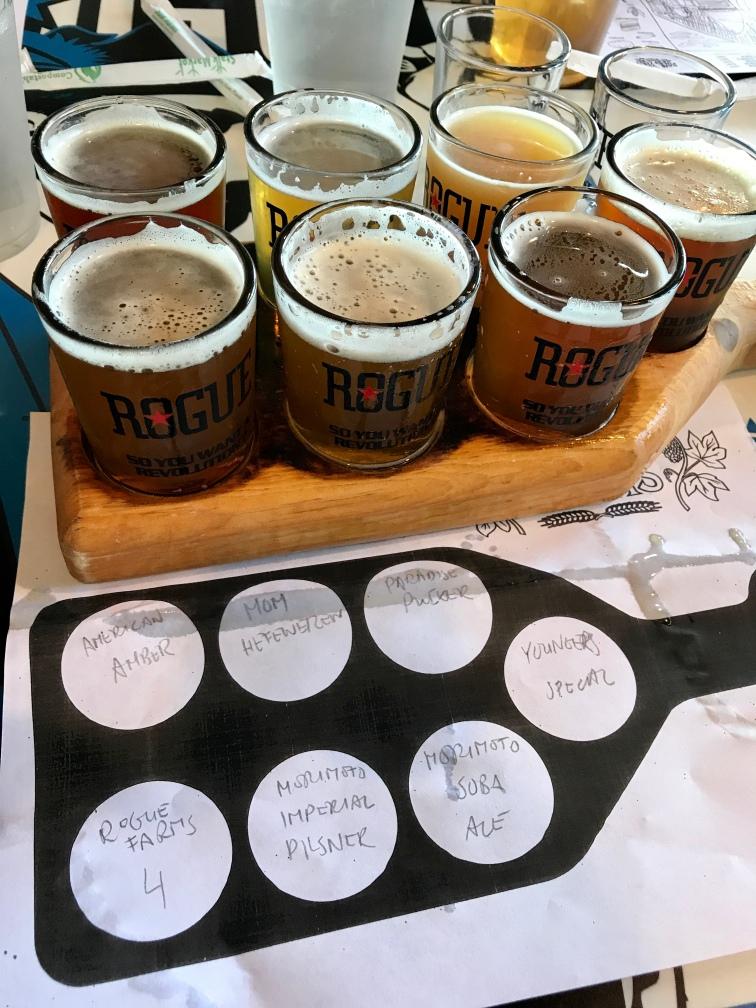 Rogue Beer Tasting Board