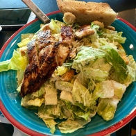 Caesar Salad with Roasted Chicken Breast