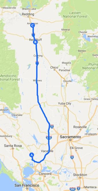 route 11 Napa - Anderson