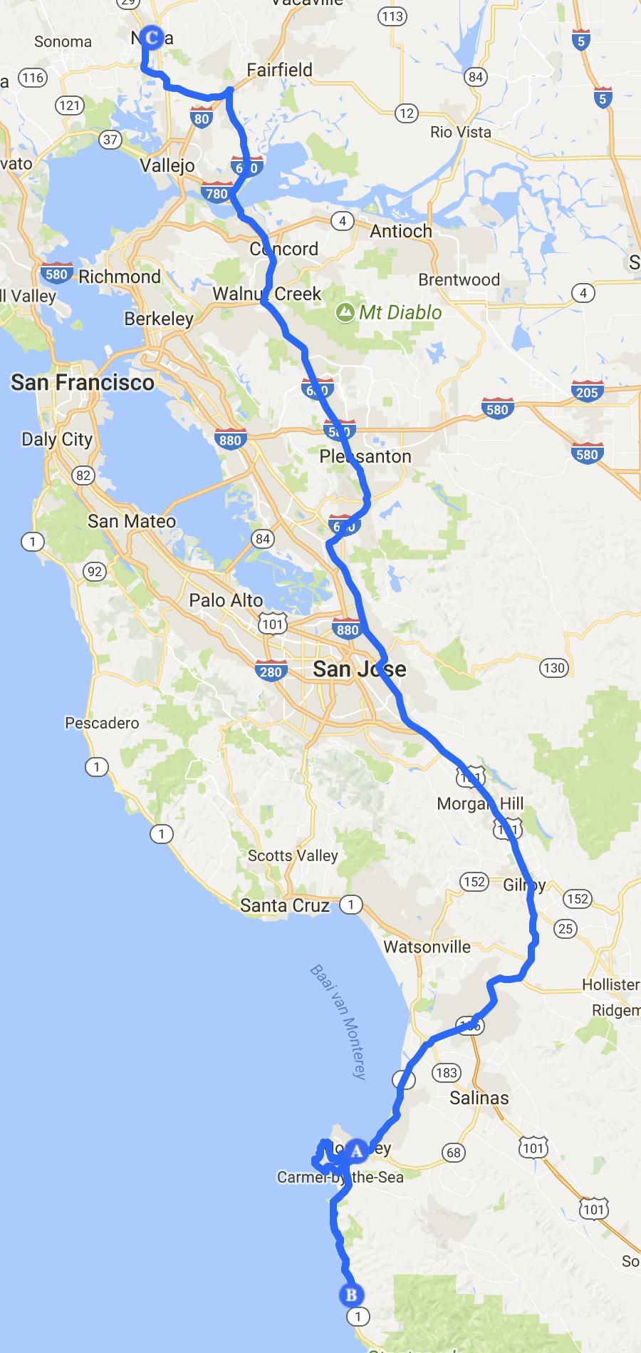 route 9 Monterrey - Napa