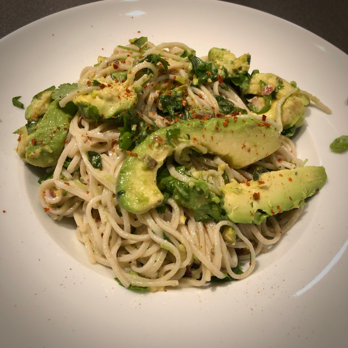 Soba noodle salad with Lime, Cardamom and Avocado by Ottolenghi​