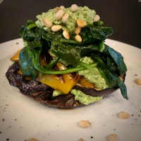 Roasted Vegetable stacks with Goat's Cheese Pesto