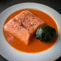 Confit Salmon with Spinach and Tomato by George Calombaris (revisited)