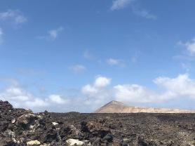 Lava field in Parque Nacional de Timanfaya