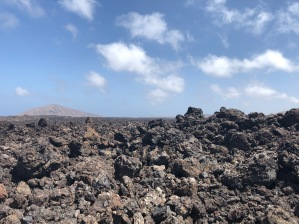 Lava field outside the Mancha Blanca Visitors Centre
